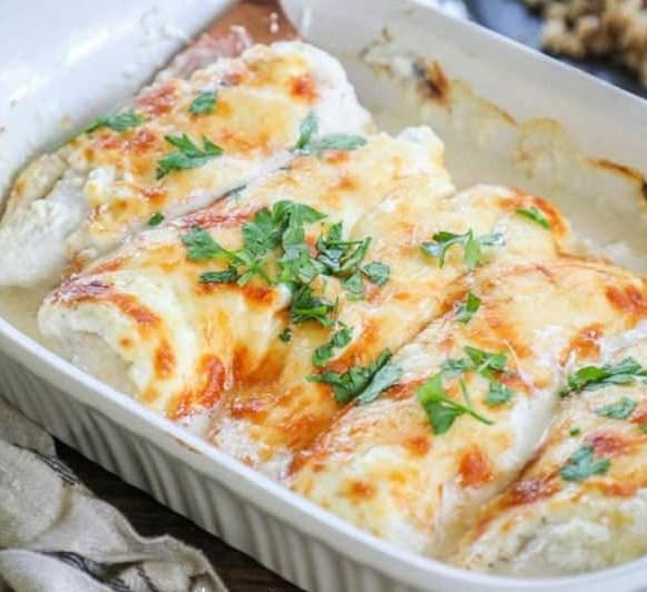 Garlic Parmesan Chicken #dinner #lowcarb