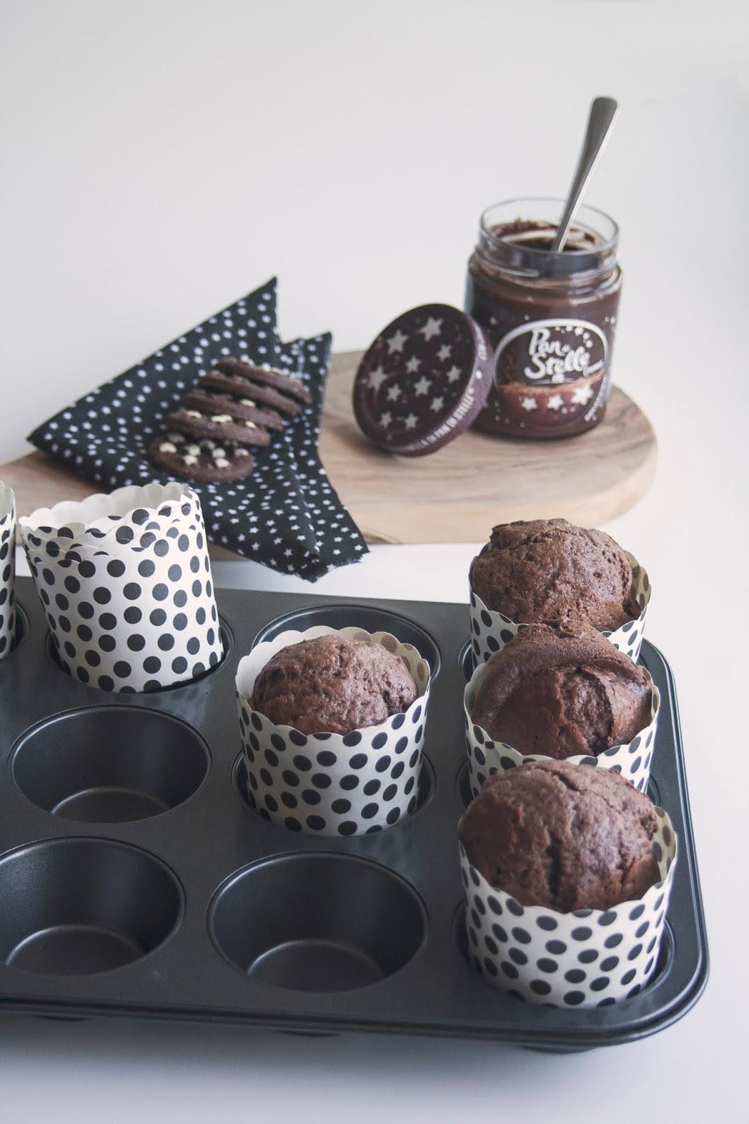 Muffin con crema Pan di Stelle