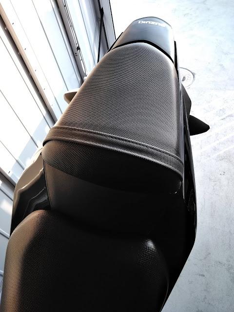 GSX250Rのリアシートの写真