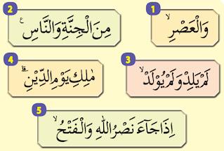 potongan ayat al-Qur'an dari beberapa surat pendek www.simplenews.me