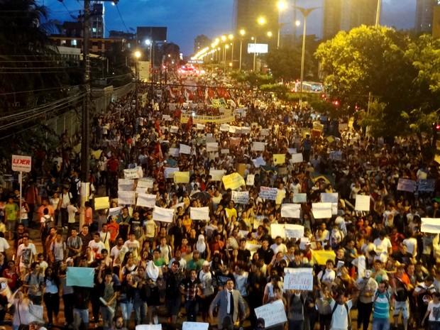 Manifestação em Belém-PA,17 de junho de 2013