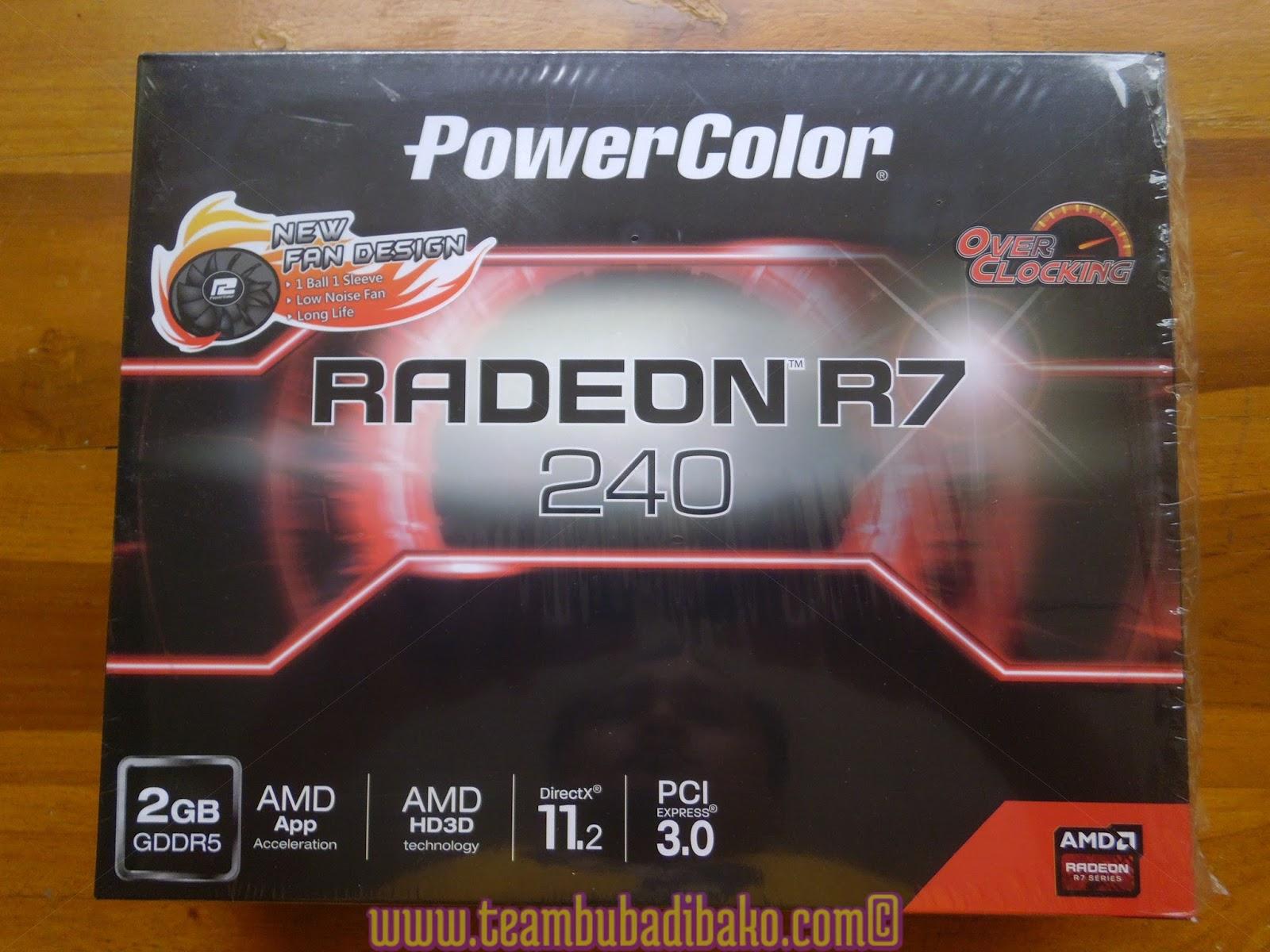 Unboxing Powercolor Amd Radeon R7 240 2gb Gddr5 Dan Test Kekuatannya Vga His R7240 Ram 2 Gb Ddr5 128bit