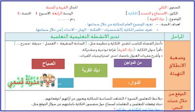 جذاذات في رحاب اللغة العربية المستوى الثاني الوحدة الرابعة بصيغة منقحة
