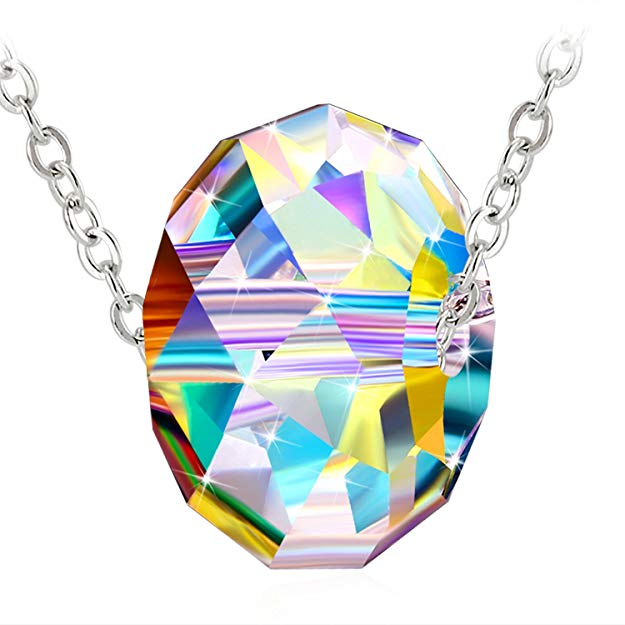 AMAZON - 75% OFF Swarovski Pendant With Simple oval 925 Sterling Sliver