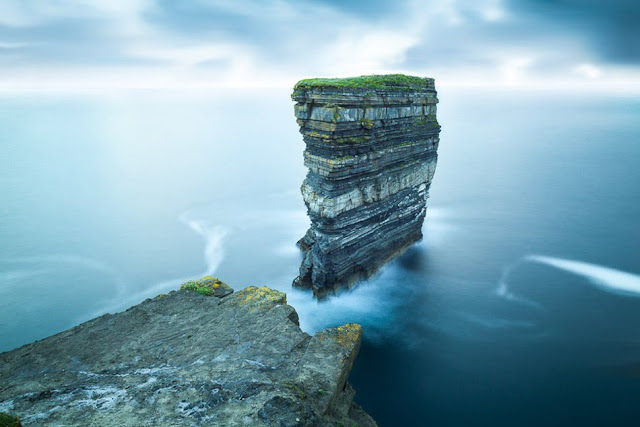 Dún Briste seastack in Co. Mayo in Ireland, found along the wild atlantic way