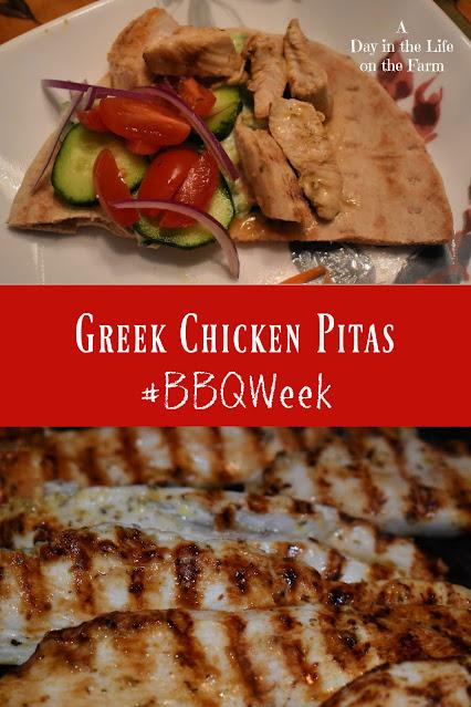 Greek Chicken Pita Sandwich pin