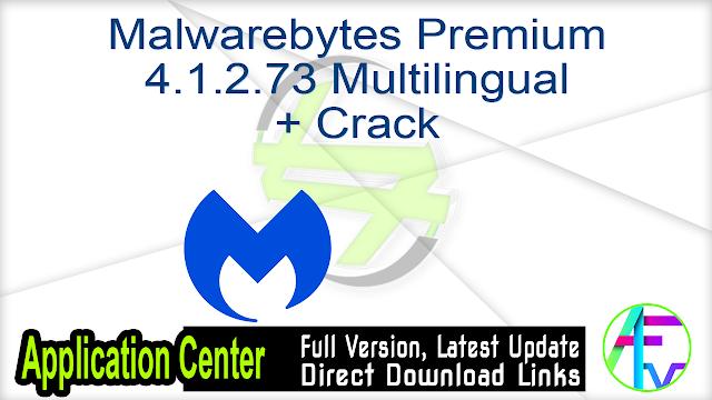 Malwarebytes Premium 4.1.2.73 Multilingual + Crack