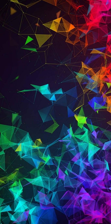Papel de Parede Abstrato Colorido para Celular