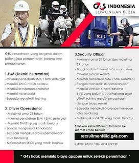Info Lowongan Kerja G4S Indonesia