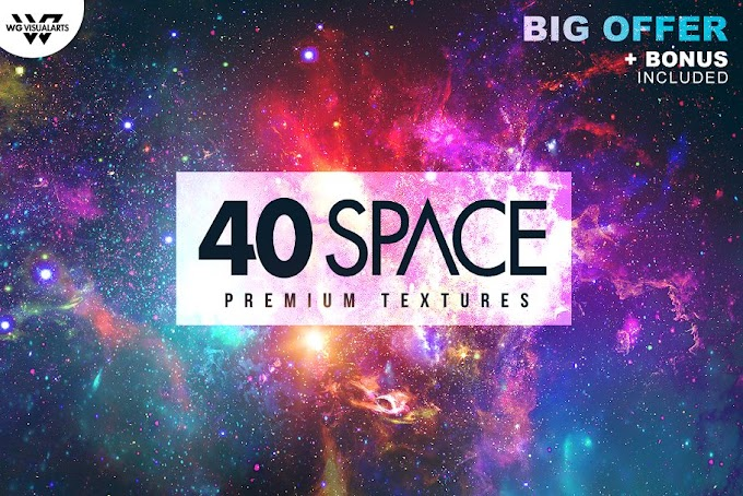 Space Galaxy Textures & Space Flyer in Premium HD