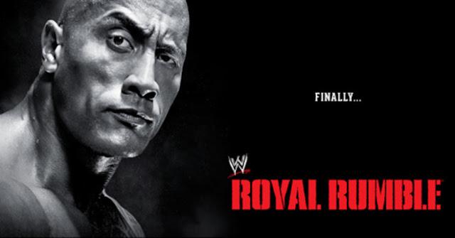 The Rock at Royal Rumble 30 Men Match