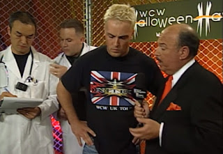 WCW Halloween Havoc 2000 - David Flair brought some scientists to test Buff Bagwell's DNA