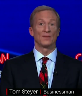 Tom Steyer CNN October 2019 Democrat primary debate cute
