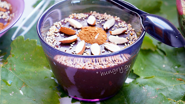 Grape Molasses Pudding with Sweet Red Wine-Moustalevria