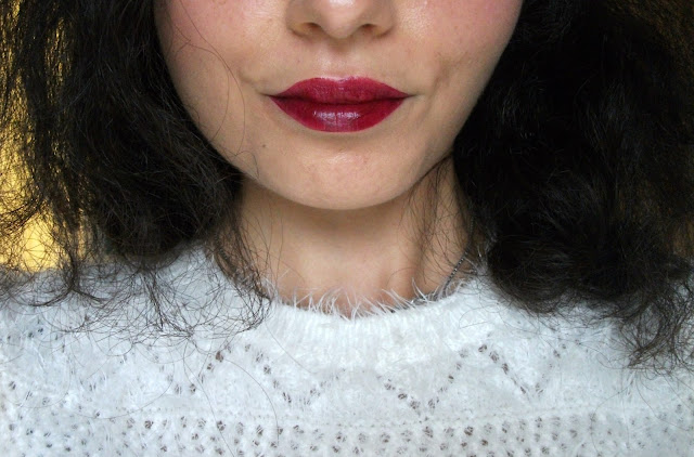 DLM Wine Lip Tint in Merlot Burgundy, moisturizing lip tint swatches