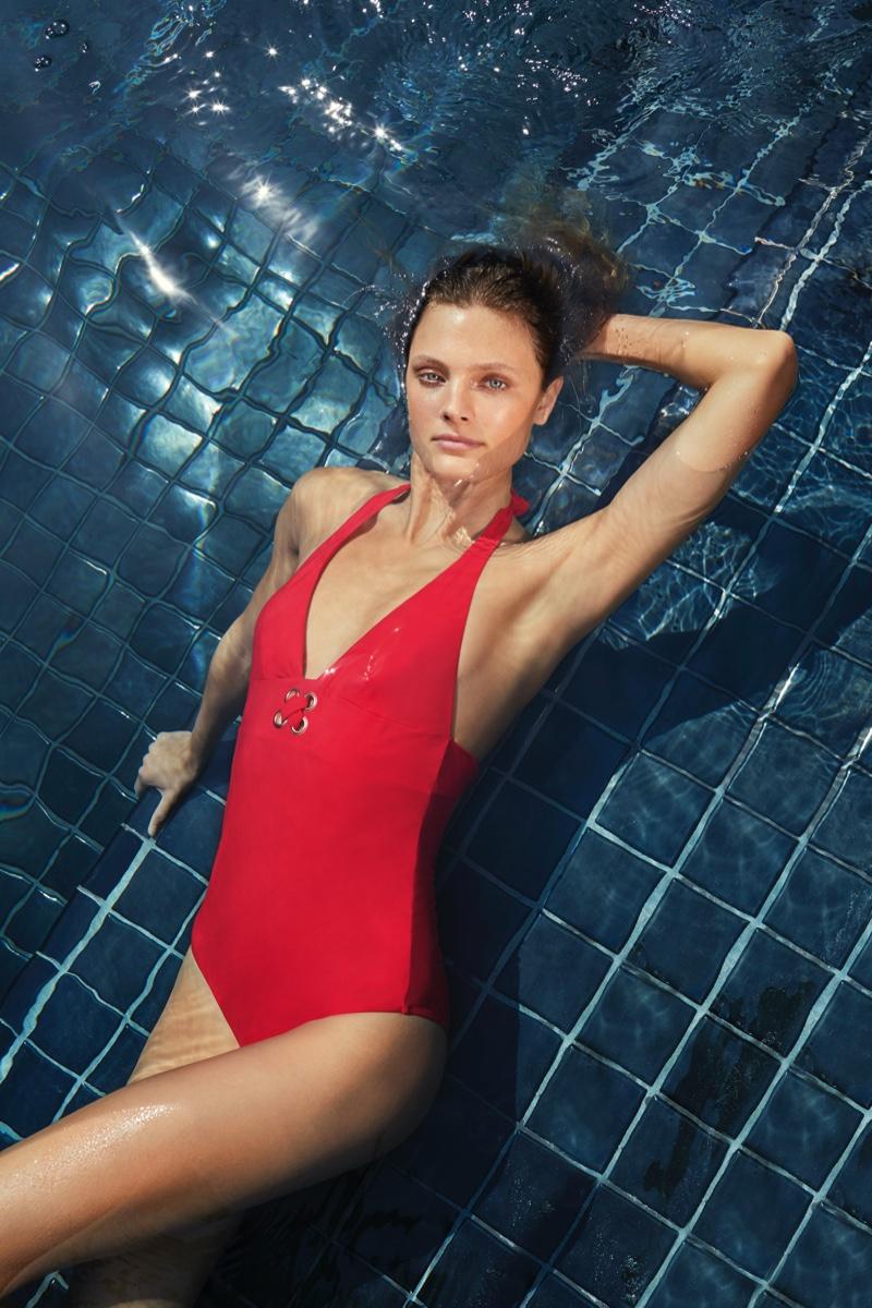 Constance Jablonski fronts Etam swimwear spring-summer 2020 campaign