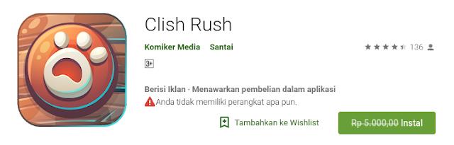 Clish Rush (free sampai 20 Agustus)