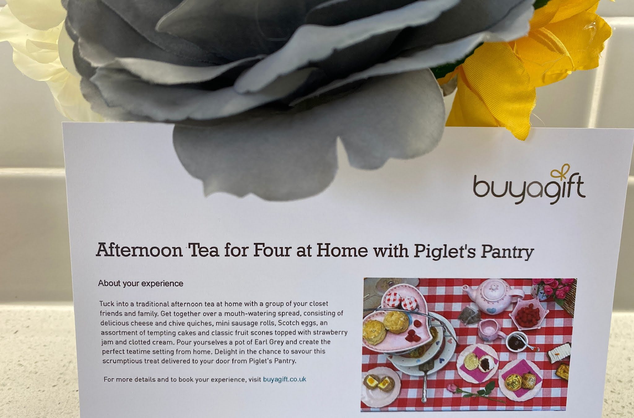 buyagift voucher for afternoon tea