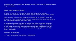 مشكلة الشاشة الزرقاء في ويندوز 10