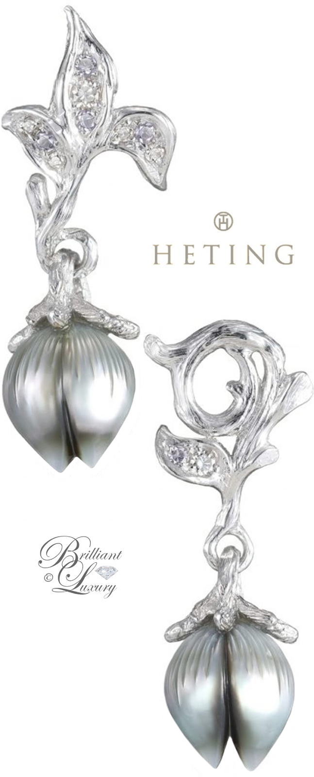Brilliant Luxury ♦ Heting Bellflower Earrings