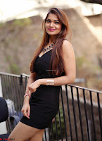 Actress and Model Ashwini in Beautiful Short Black Mini Dress ~  Exclusive 005.jpg