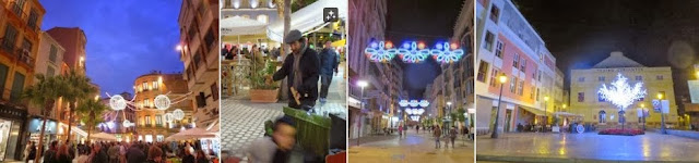 Malaga New Year: Holiday lights on New Year's Eve in Malaga Spain