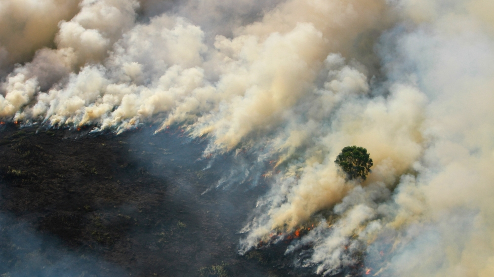 A mild El Nino weather pattern this year has aggravated the impact of fires in Indonesia's Sumatra island