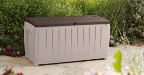 Keter Deck Box Premium Outdoor Storage In Modern Plastic Weatherproof, Keter Deck Box, Keter Deck Box Seat, Keter Deck Storage Box, Keter Outdoor Storage Bench, Keter Plastic Deck Storage Container Box, Keter Resin Deck Box, Lockable Keter Deck Box, keter,