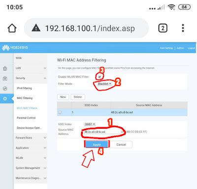 Cara Memblokir Pengguna Wifi IndiHome Tidak Dikenal/Ilegal
