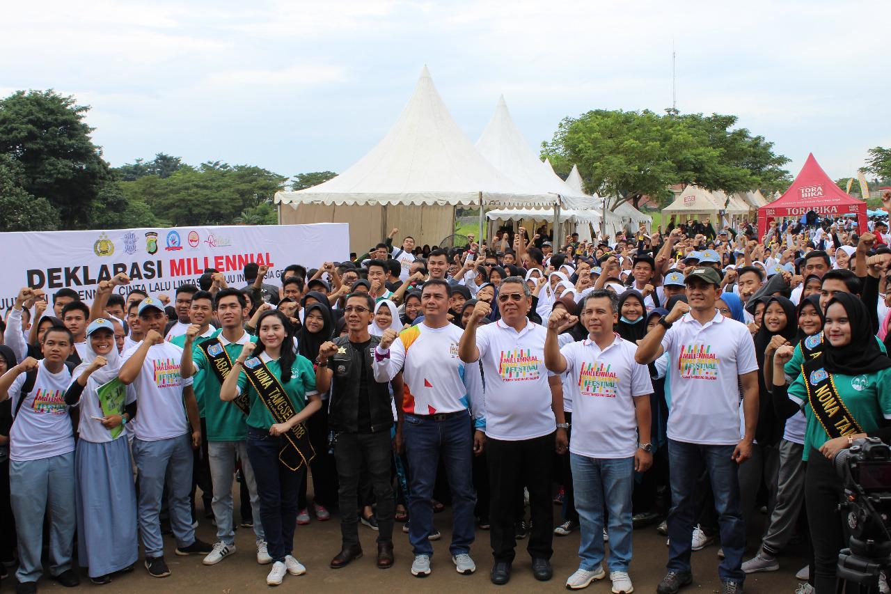 Dukung Kesadaran Tertib Ber- Lalulintas Dandim 0506/Tgr Ikuti Festival Road Safety