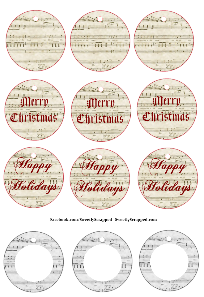 Sweetly Scrapped Free Printable Christmas Tags And Mini Cards