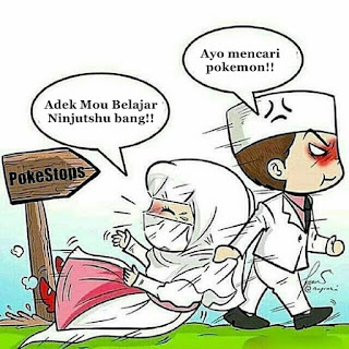 Meme Lucu Pokemon Go versi Ayo ke KUA edisi Korban Film Kartun-ninjutshu