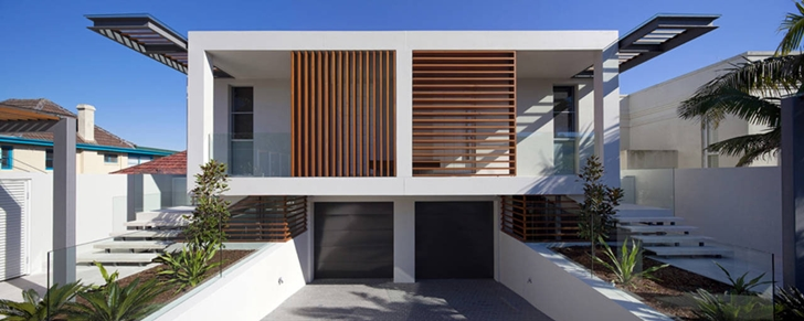 Front facade of Portland Street Duplex by MPR Design Group