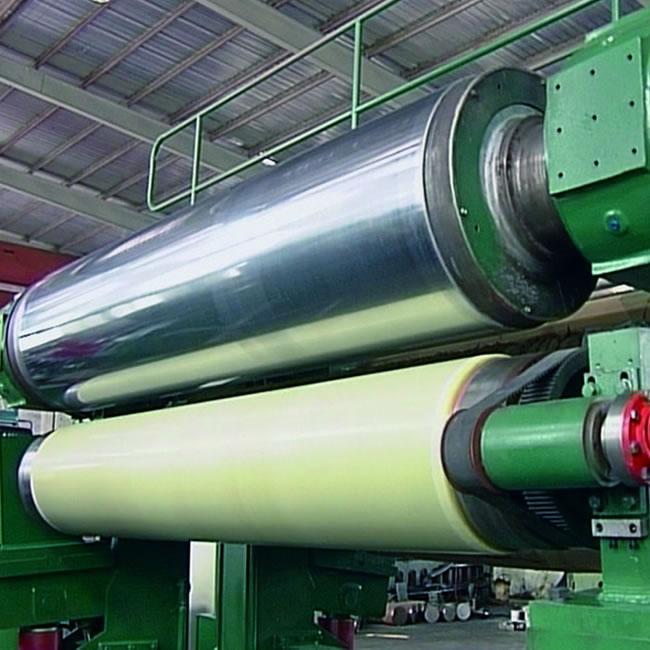 Calandra del proceso de fabricación del papel