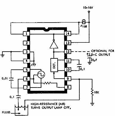 Circuits Apmilifier: ULN2429A based liquid detector