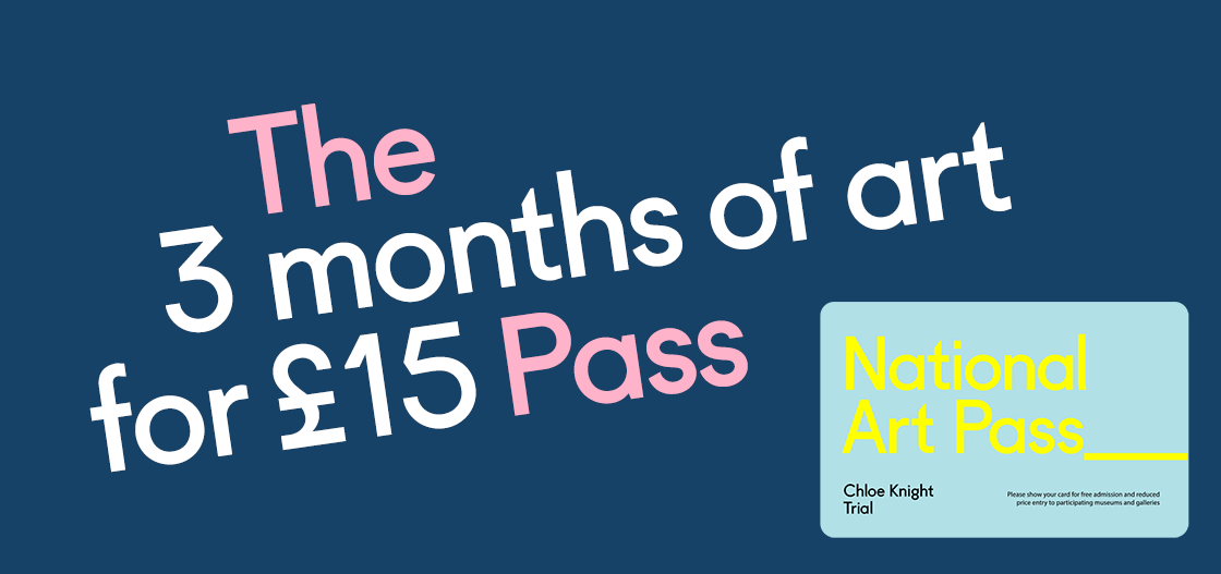 Buy a 3 Month Art Pass for just £15