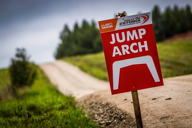 Jumps on Rally Estonia