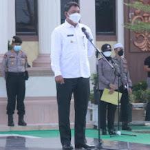 Wabup Hairan Hadiri Apel Gelar Pasukan Pengamanan MTQ