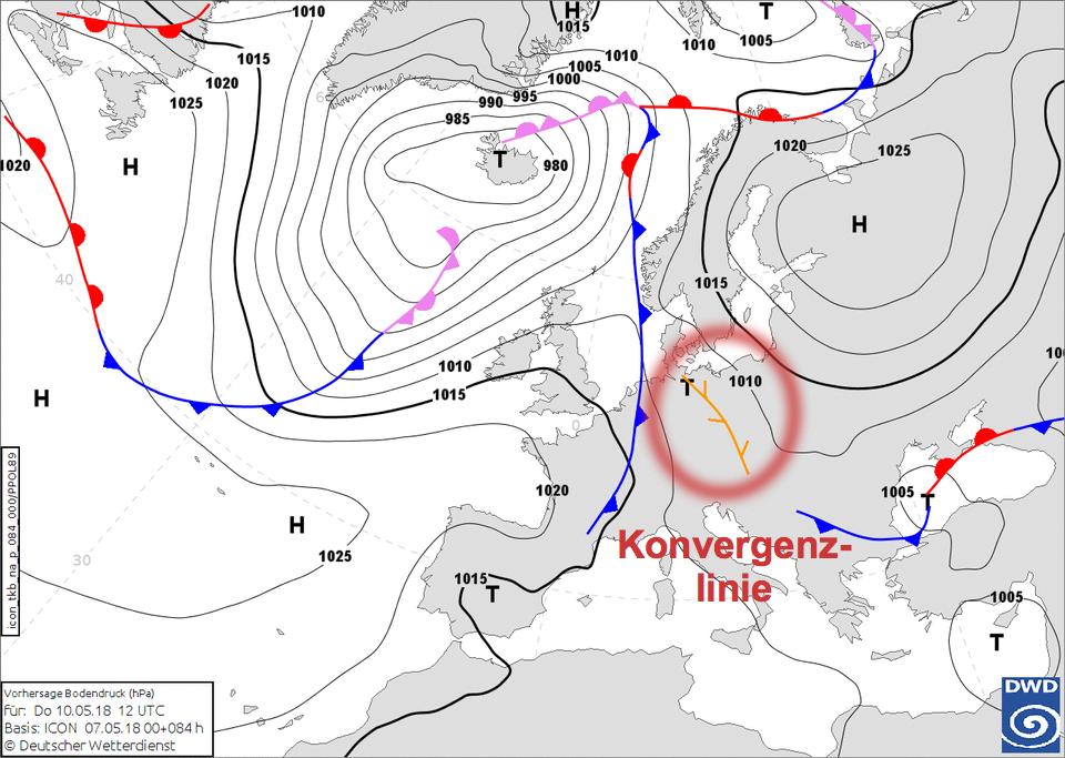 Bodenwetterkarte 10.05.2018, 12 UTC
