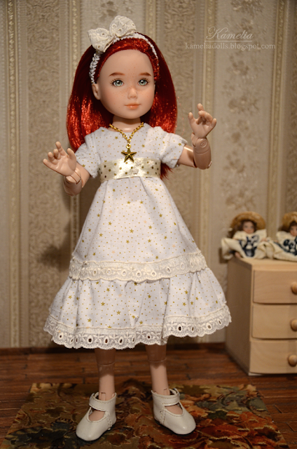 Handmade summer dress for a doll