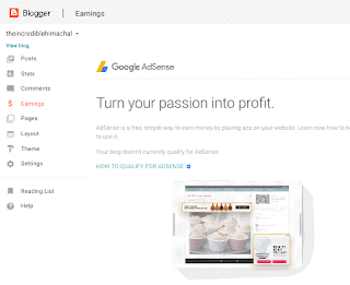 make money with adsense in blogger blog