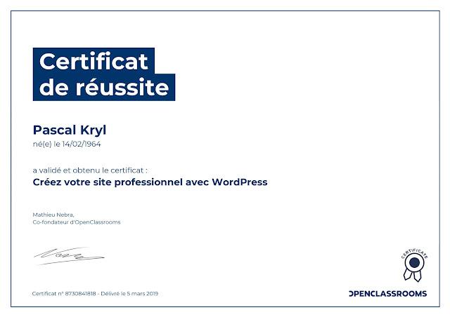 Créez votre site professionnel avec Wordpress.