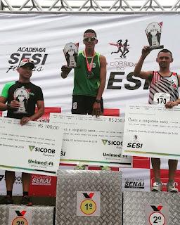Baraunense é campeão nos 5 km da Corrida SESI em Campina Grande