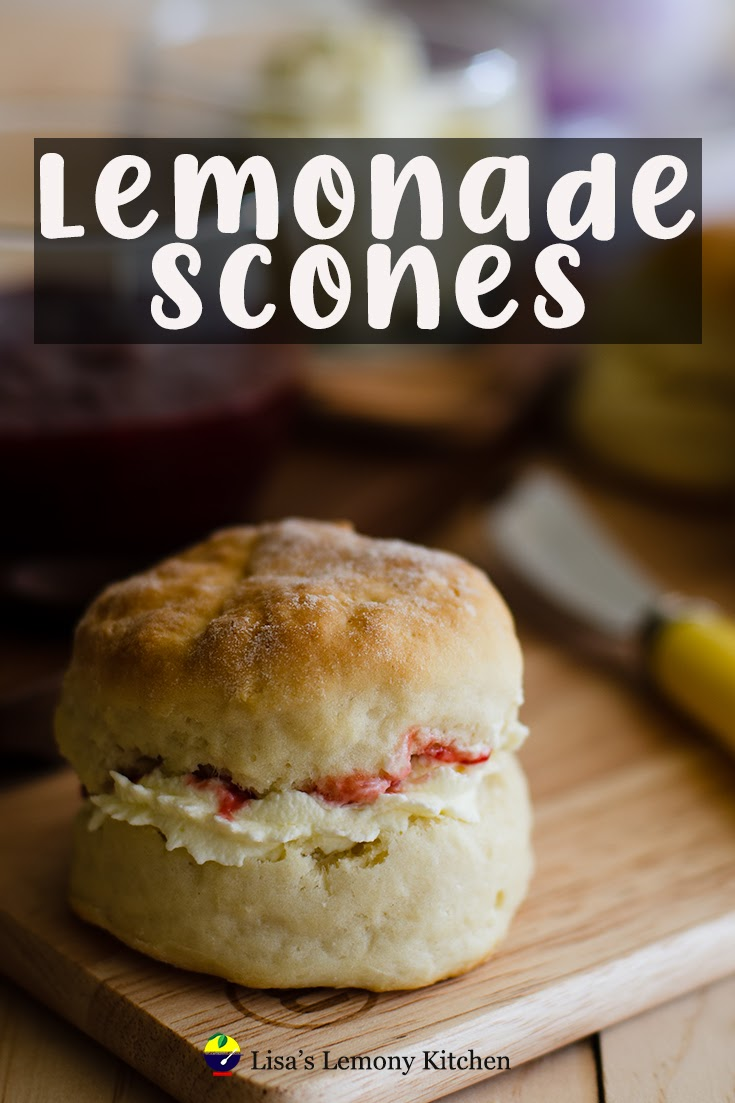 Best recipe for fluffy, soft lemonade scones. With 4 basic ingredients used. Best serve with strawberry jam.
