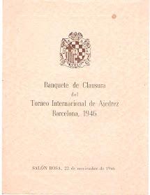 Banquete de clausura del Torneo Internacional de Ajedrez Barcelona 1946