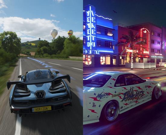 Forza Horizon 4 e Need for Speed Heat