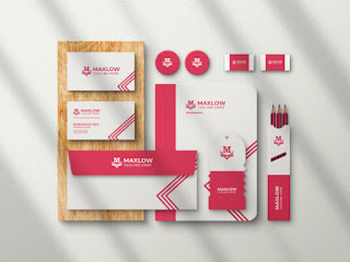 branding stationery with shadow mockup