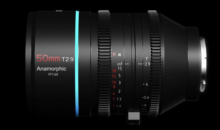Sirui 50mm T2.9 1.6x, вид сбоку