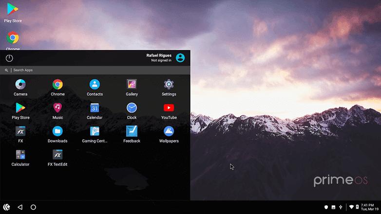 OS Android untuk PC Terbaik PrimeOS