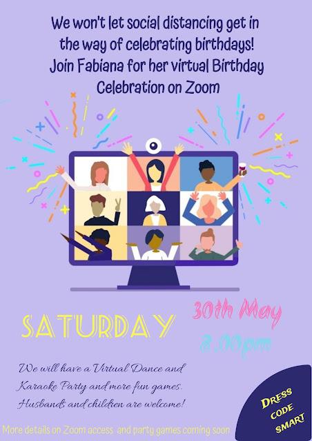 invito festa compleanno zoom